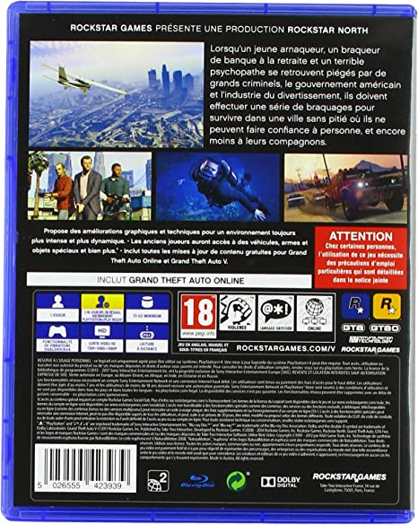 GTA V - PlayStation 4 [Importación francesa]: Amazon.es: Videojuegos