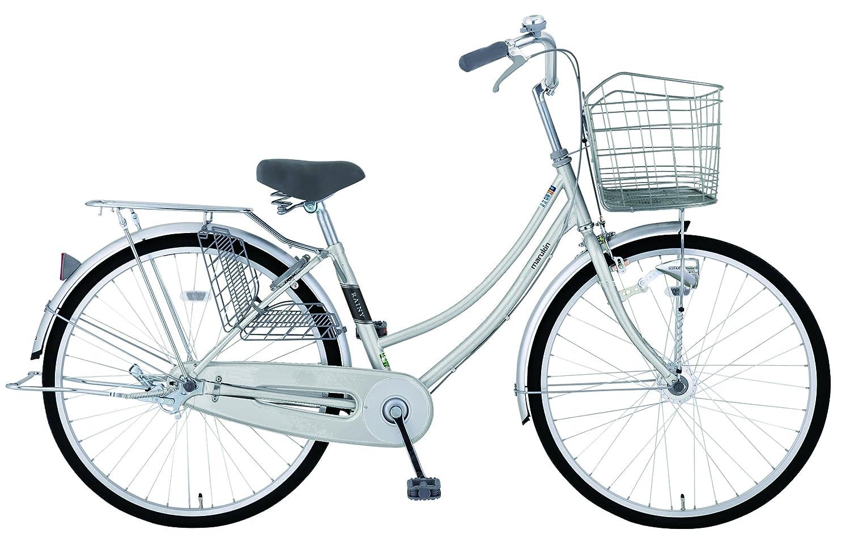 marukin(マルキン) 完全組立 26インチ自転車 LEDオートライト シマノ製内装3段ギア レイニーホーム シルバー MK-18-011 シルバー B078KJVTSJ