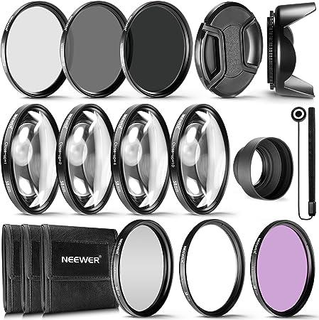 Kit Completo de filtros de Objetivos para Lentes de 58 mm de Neewer® Set de