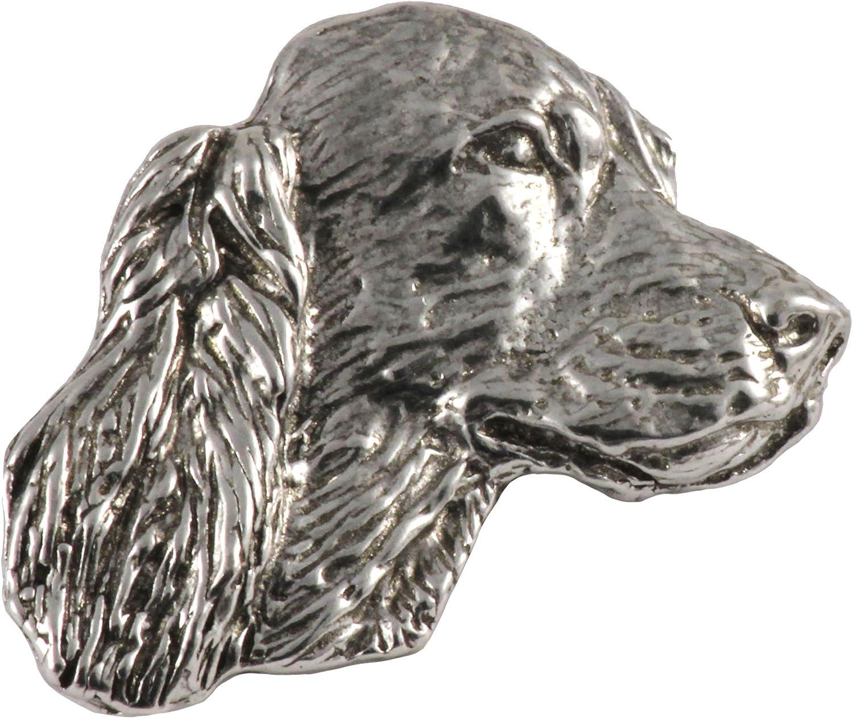 Jewelry D100 Irish Setter Dog Pewter Lapel Pin Brooch