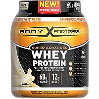Body Fortress Super Advanced Whey Protein Powder, Gluten Free, Vanilla, 2 Pound