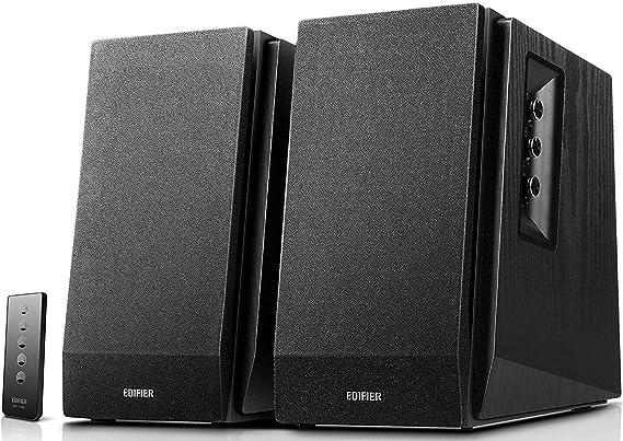 EDIFIER Studio R1700BT – Sistema de altavoces 2.0 (66 Vatios) con Bluetooth y mando a distancia, color negro