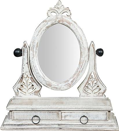 Arte E Antiquariato Specchio In Legno Con Cassettini