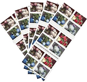 Flowers from The Garden 5 Books of 20 US First Class Postage Stamps American Celebrate Beauty