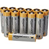 Amazon Basics AA Performance Alkaline Batteries, 12-Pack - Packaging May Vary