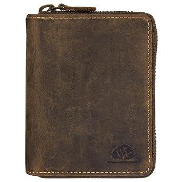 197224890b59f Green Burry RV-Kombibörse 2tlg. Leder Vintage Brown  Amazon.de ...
