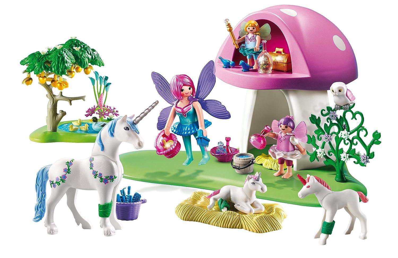 Cranbury 6055 PLAYMOBIL Fairies with Toadstool House Playmobil