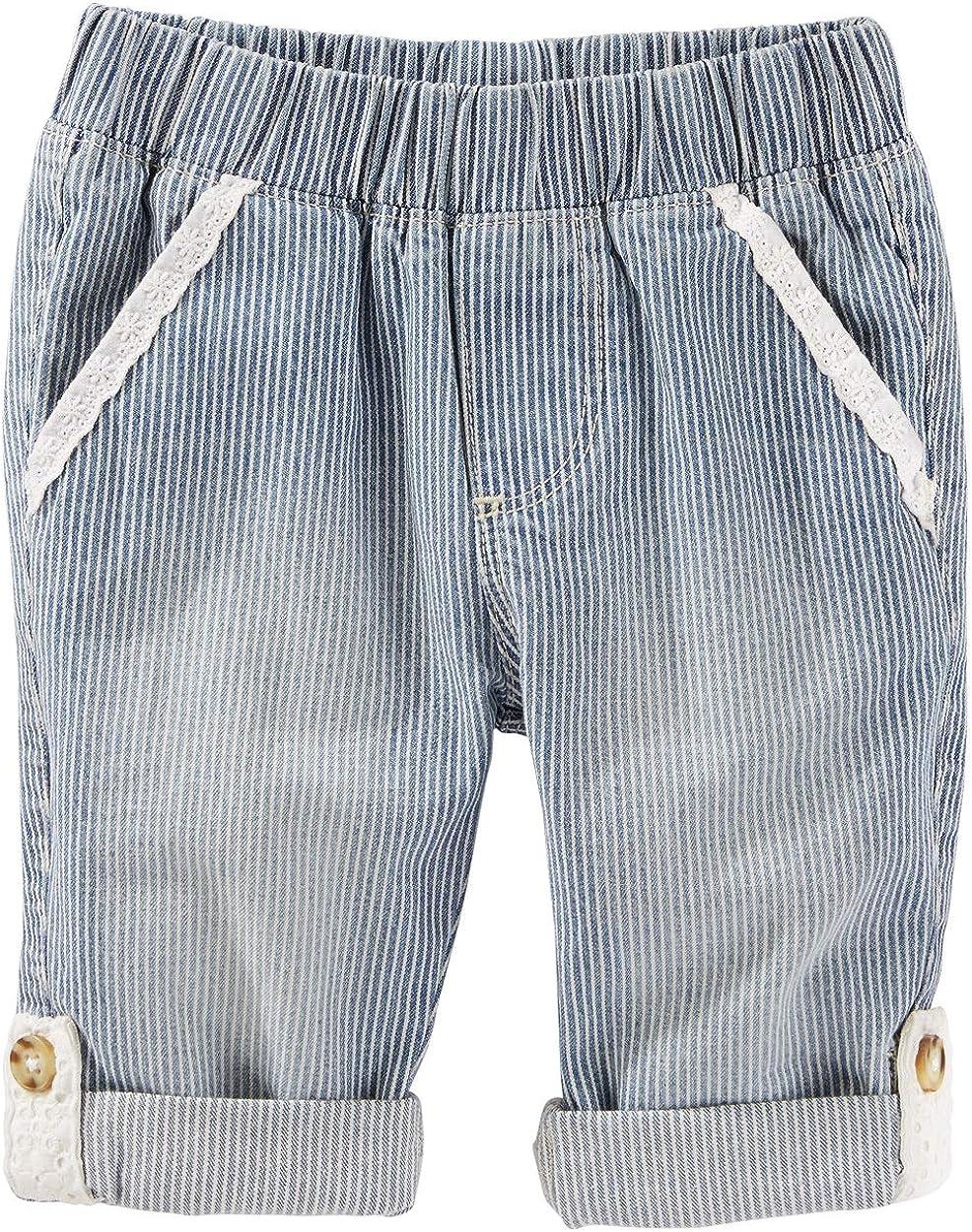 Oshkosh Bgosh Pull On Covertible Hickory Stripe Pants