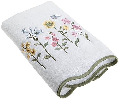 avanti linens premier country floral bath towel white