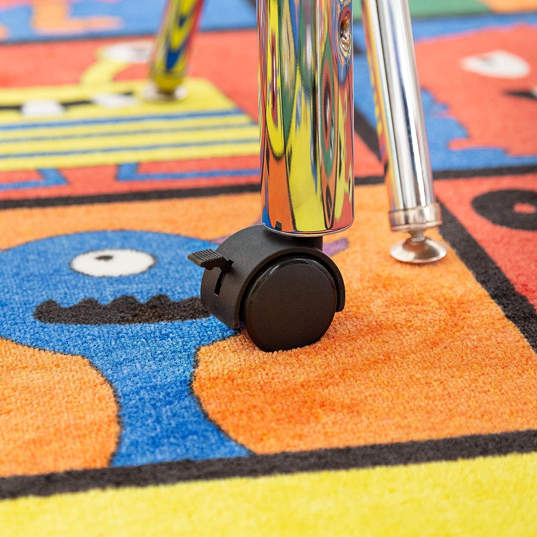 Round Adjustable-Height Mobile Preschool Activity Table 48 Diameter