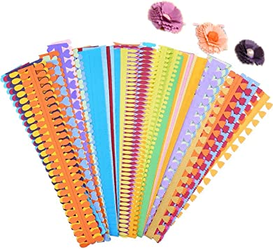 40PCS, 8 Patterns with Embossing Ball Stylus Tool ODETOJOY Flower Quilling Paper Strips Craft Make Paper Flowers Kit for Scrapbooking-