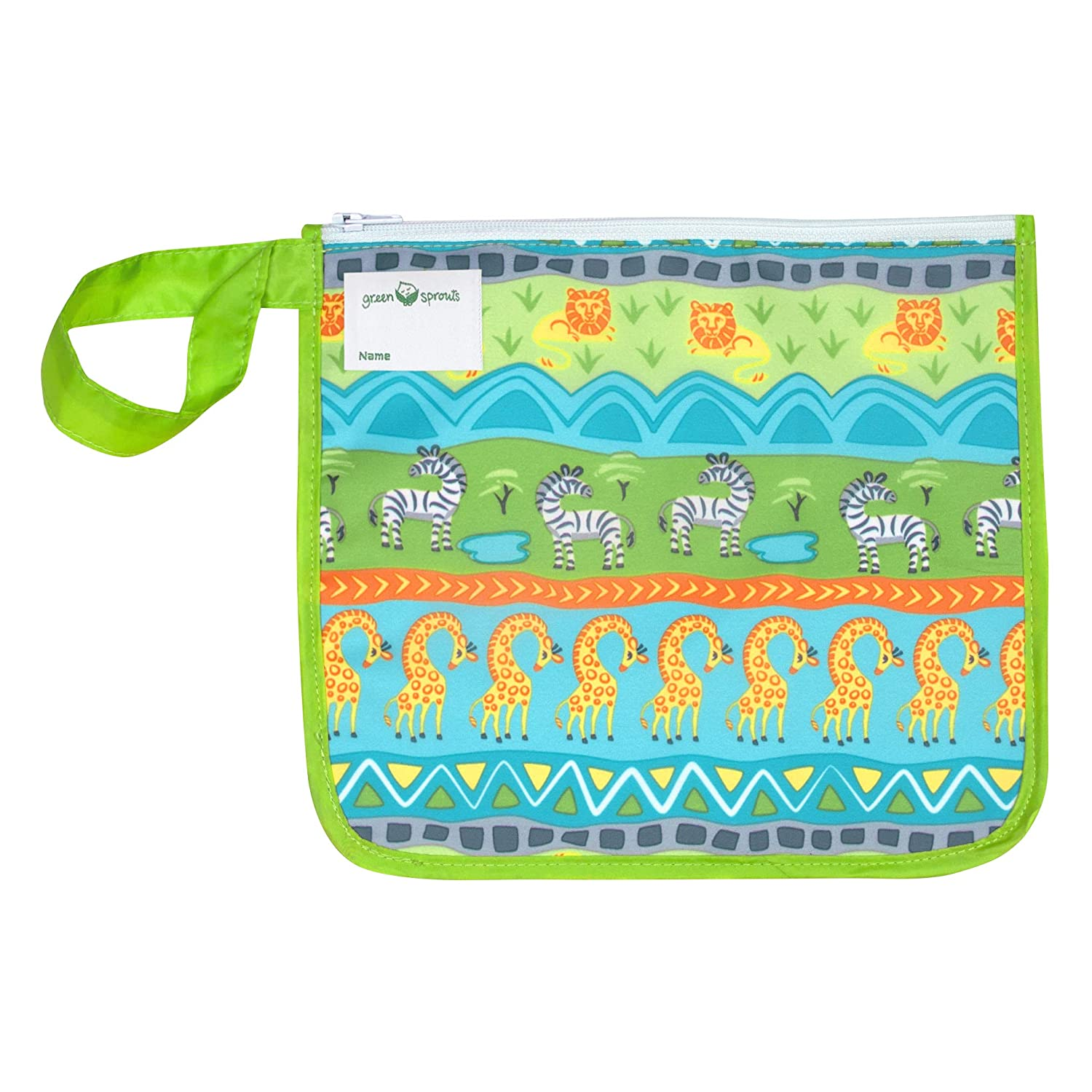 green sprouts Reusable Insulated Sandwich Bag, Holds Food, Utensils, Wipes and More, Keeps Food Fresh, Food-Safe, Waterproof, Easy-Clean Material