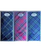 3 lots de mouchoirs broderies écossaises pour femmes avec broderie- tout coton