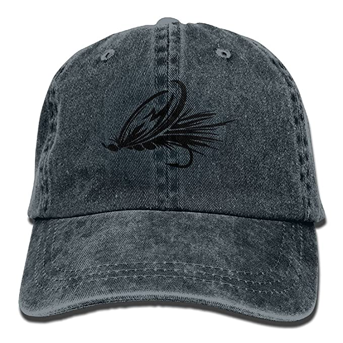 38aedfe89889 Fly Fishing Lure Denim Baseball Caps Hat Adjustable Cotton Sport Strap Cap  for Men Women