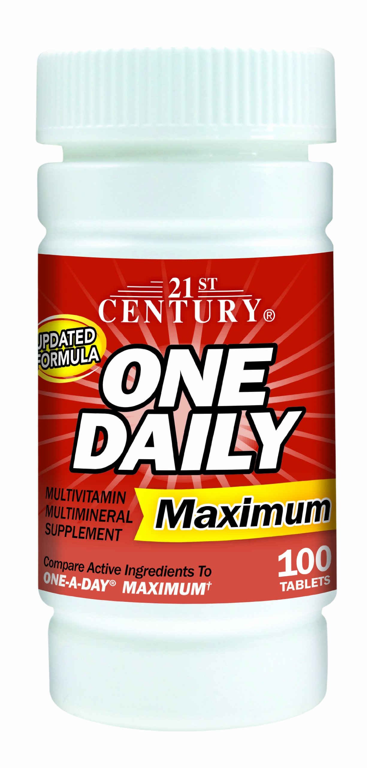 21st Century One Daily Maximum Tablets, 100 Count (Pack of 2)