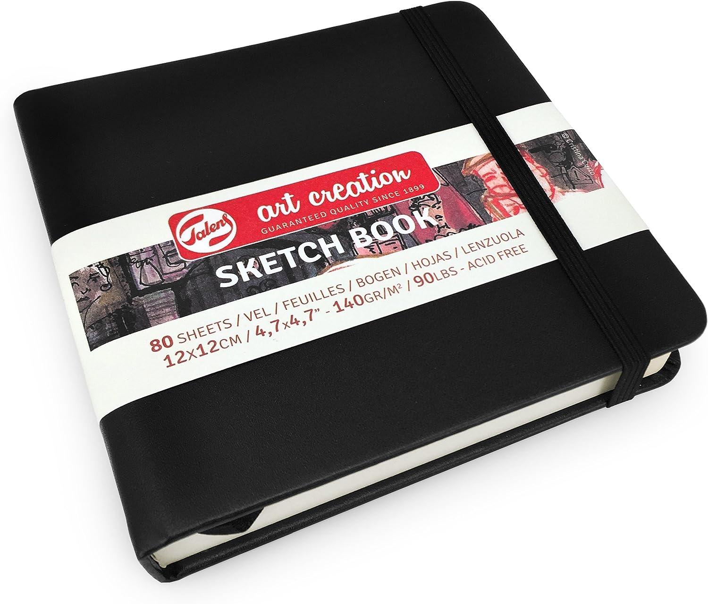 color blanco 80 hojas 21 x 29,7 cm 140 g//m/² Royal Talens Cuaderno de dibujo con tapa dura