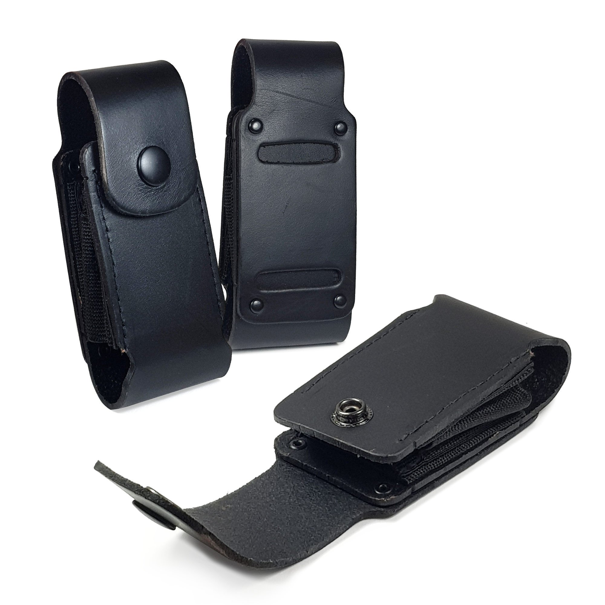 TUFF LUV Genuine Leather Case Sheath Pouch for Leatherman Super Tool 300/Surge - WP503 - Black