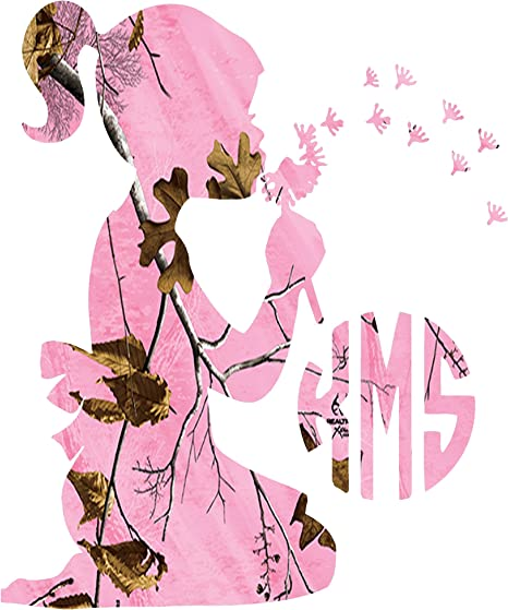 Amazon Com Little Girl Monogram Pink Camo Decal Sticker Please Leave Your Initials In The Order That You Want Them In Any Sticker Can Be Made Yeti Size To Large Back