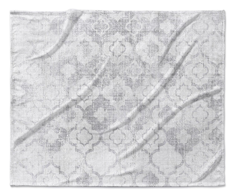 Grey - ENCOMPASS Collection Size: 40x30x1 - TELAVC1477VPS KAVKA Designs Perugia Fleece Blanket,