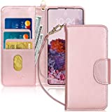 FYY Samsung S20 Case, [Kickstand Feature] Luxury PU Leather Wallet Case Flip Folio Cover with [Card Slots] and [Note…