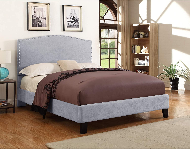 Gray Artum Hill BE1-216 Casey Upholstered Bed Full