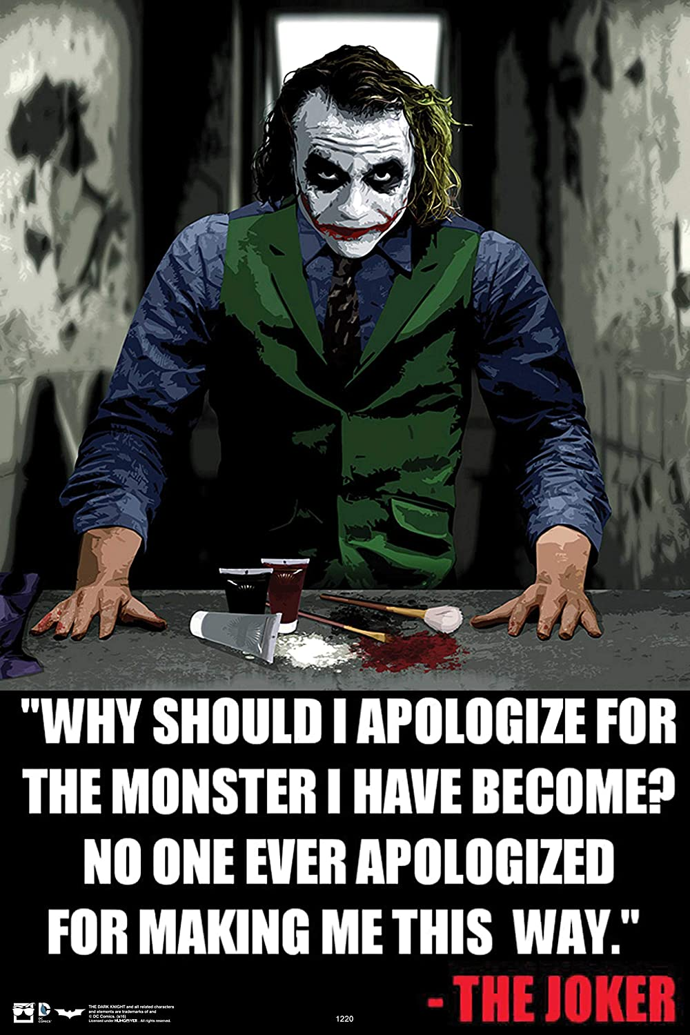 HungOver Wall Art -Dark Knight Joker Quotes fine Quality unframe