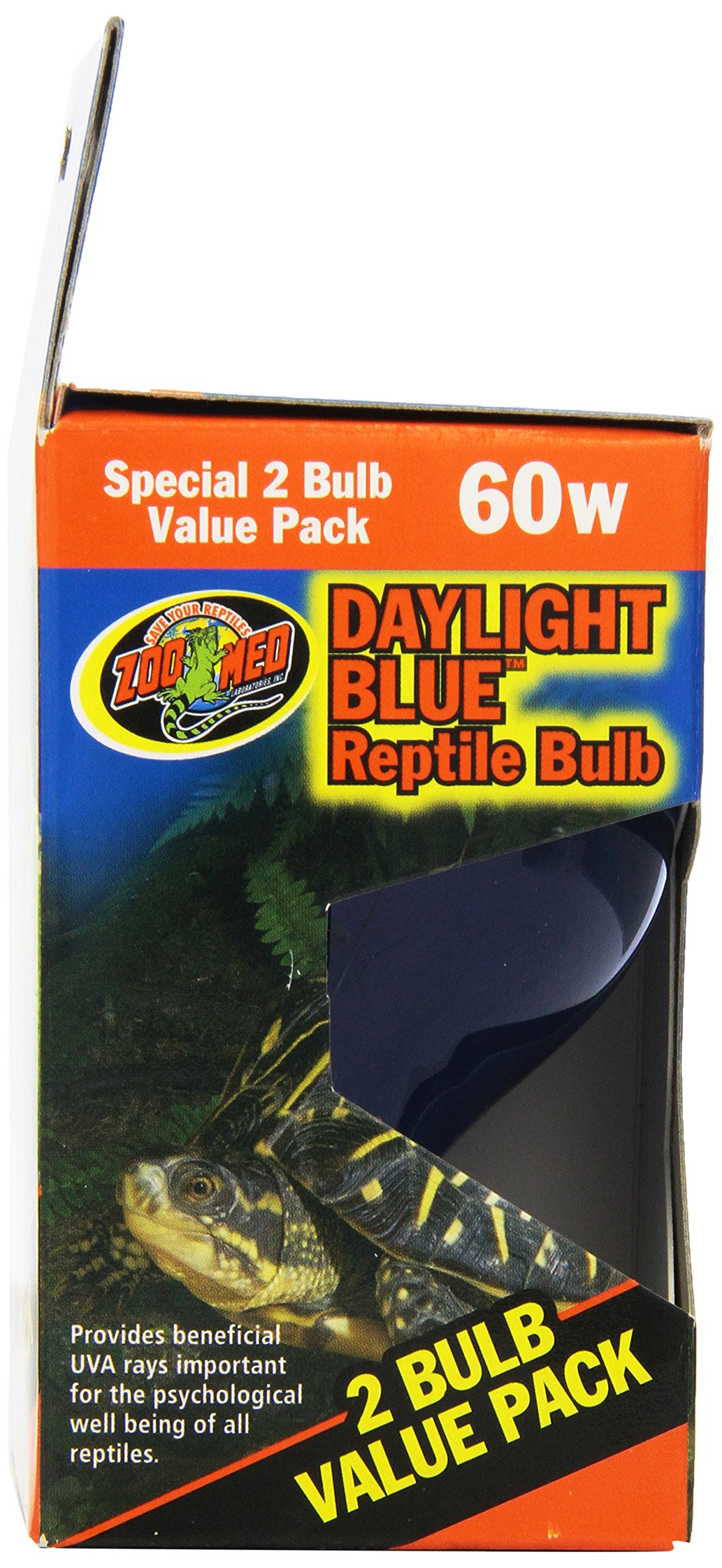 Zoo Med 2-Pack Daylight Blue Reptile Bulb, 60-watt by Zoo Med (Image #4)