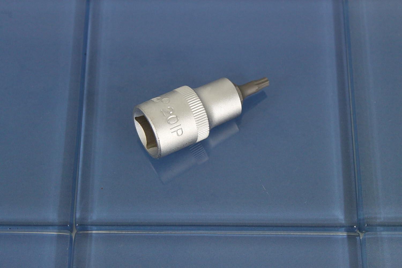 12.7mm Square Drive Auto Repair Impact Ready Tool GC Long Bit Socket 1//2 inch 55mm TEMO Torx Plus 60IP 2 inch