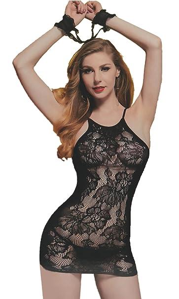 Completino Intimo Sexy Lingerie Sensuale Taglia Unica Nero Mini Abito Hot  Vari Modelli Disponibili - Vestibilità Perfetta - Si adatta al Corpo  (modello 4)  ... 006a03f05ac