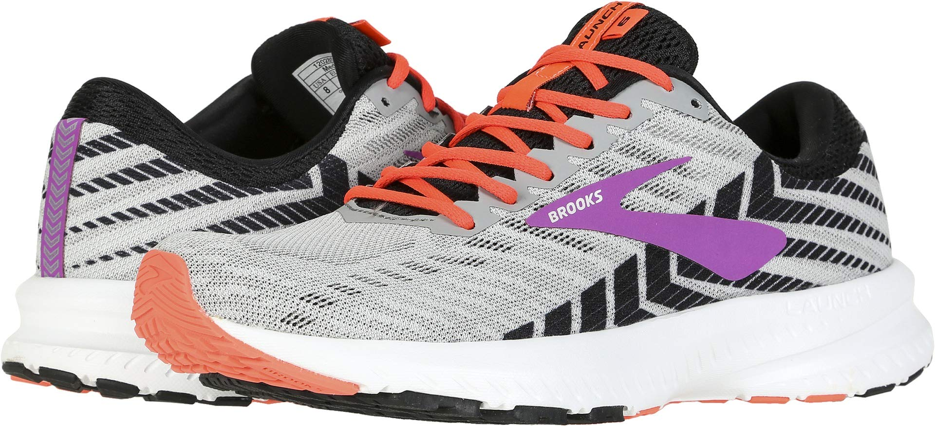 Brooks Women's Launch 6 Grey/Black/Purple 8.5 B US by Brooks