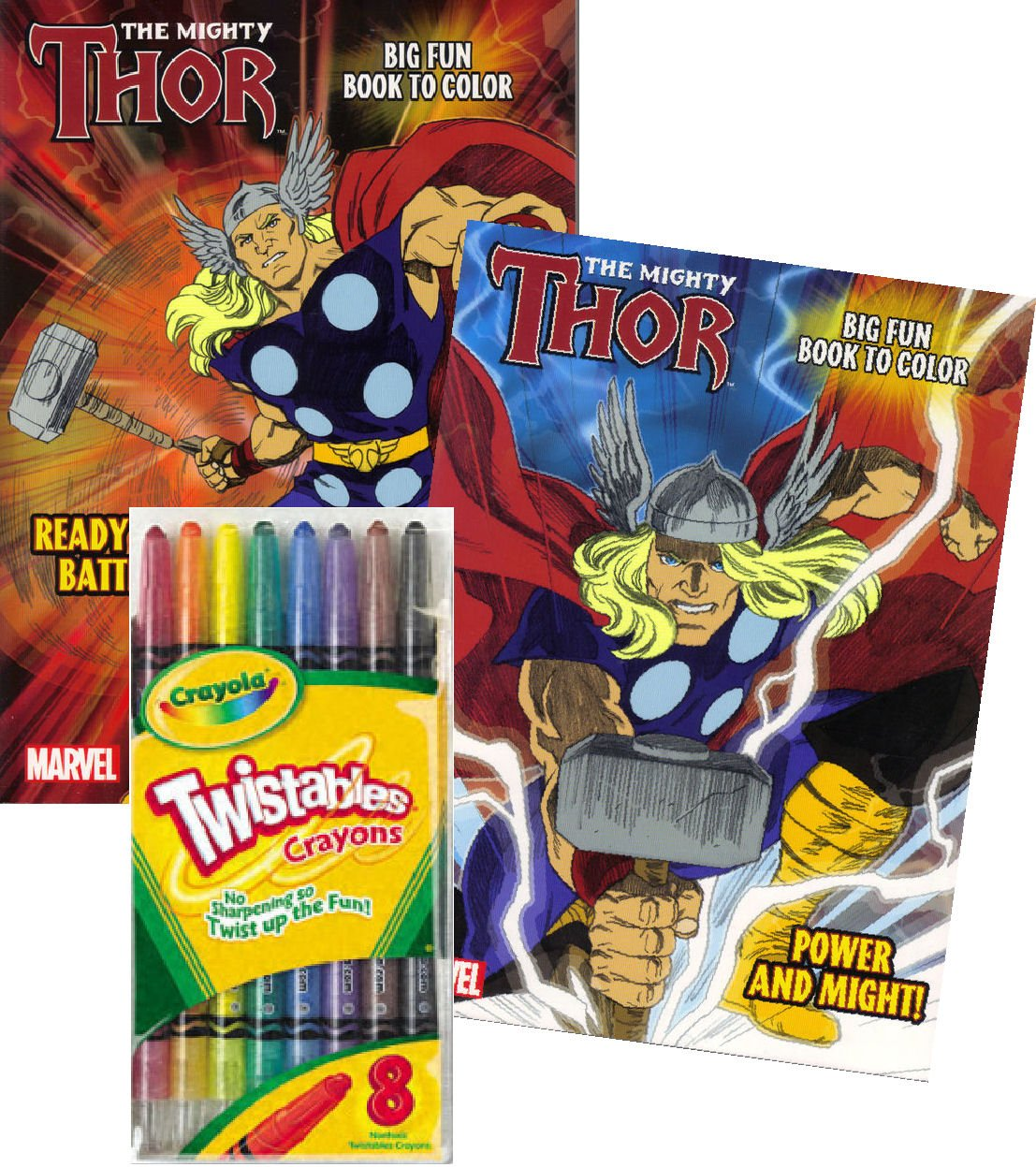 Amazon.com: Marvel Comics THOR® Coloring Book Set with ...