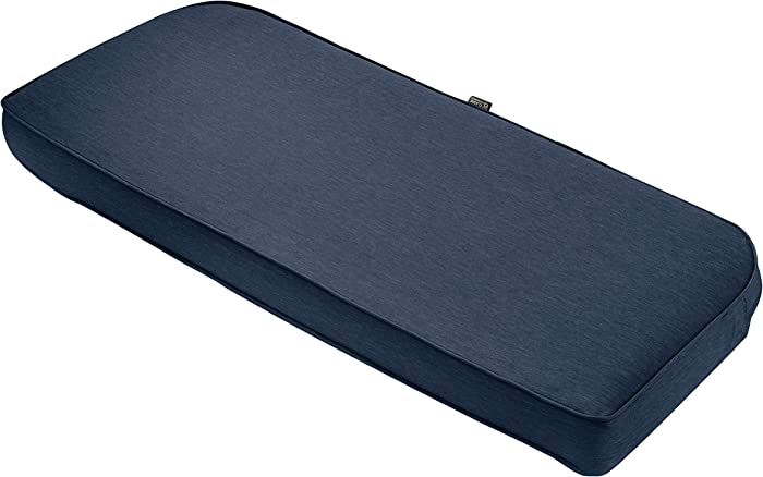 "Classic Accessories Montlake Bench Cont. Cushion Foam & Slip Cover, Heather Indigo, 41x18x3"" Thick"