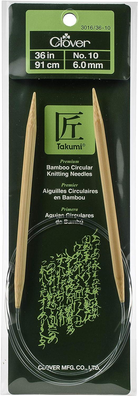 Aguja Circular Clover Takumi Bamboo 6.00 mm