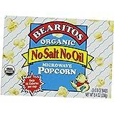 Bearitos Organic Microwave Popcorn, No Salt No Oil, 2.8oz - 3 Count (Pack of 12)