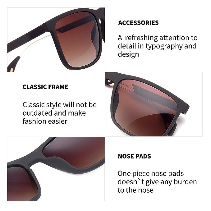 Amazon.com: Gafas de sol polarizadas para hombre, diseño ...