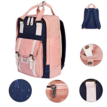 Amazon.com: Girls School Bag Lightweight Casual Backpack Rucksack for Women Waterproof Nylon Handbag Travel Daypack Medium: Computers & Accessories