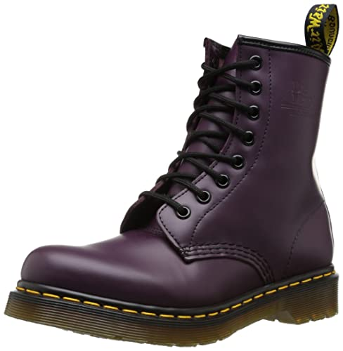 e8064e38a53e8 Dr. Martens 1460 Re-Invented 8 Eye Lace Up Boot,Purple Smooth Leather