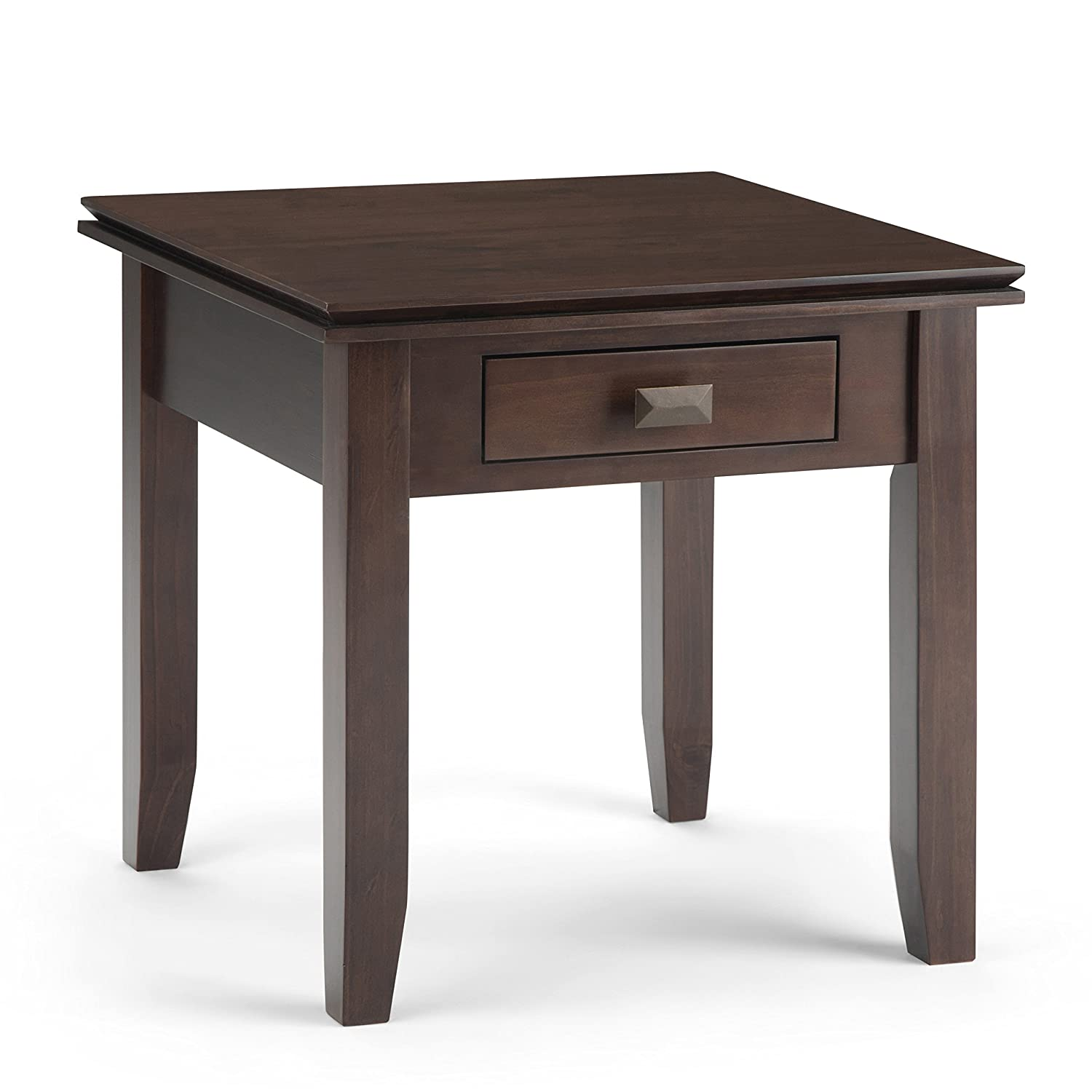 Simpli Home AXCHOL002-TB Artisan Solid Wood End Side Table in Tobacco Brown