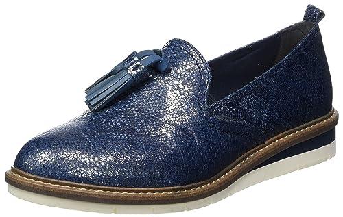 Tamaris 24300, Mocasines para Mujer, Azul (Navy Metallic), 41 EU: Amazon.es: Zapatos y complementos