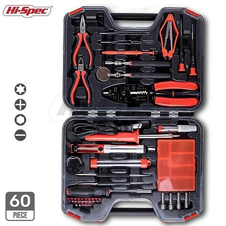 amazon com hi spec 60 piece electronics electrical engineer diy rh amazon com Hand Tool Storage Ideas Rotary Tool Storage DIY