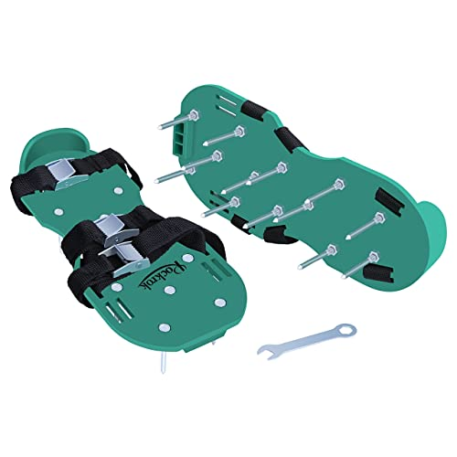 Rockrok Spike Lawn Aerator Shoes Three Straps & Metal Buckles