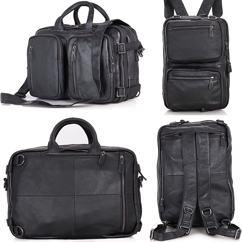 Laptop Bag, Clean Vintage Hybrid Backpack Messenger Bag