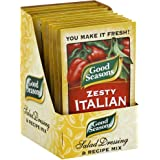 Good Seasons Salad Dressing & Recipe Mix .6-.75oz Packets (Pack of 12) (Zesty Italian .6oz)