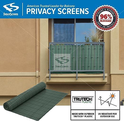 Balcony Privacy Screen PVC Slat Roll for Apartment Balcony Privacy Screen  (Green)