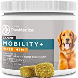 TRUSTWELL PAWMEDICA Glucosamine for Dogs, Joint Care Chews for Dogs, Joint Supplements with Hemp, Glucosamine, Large Breed Do