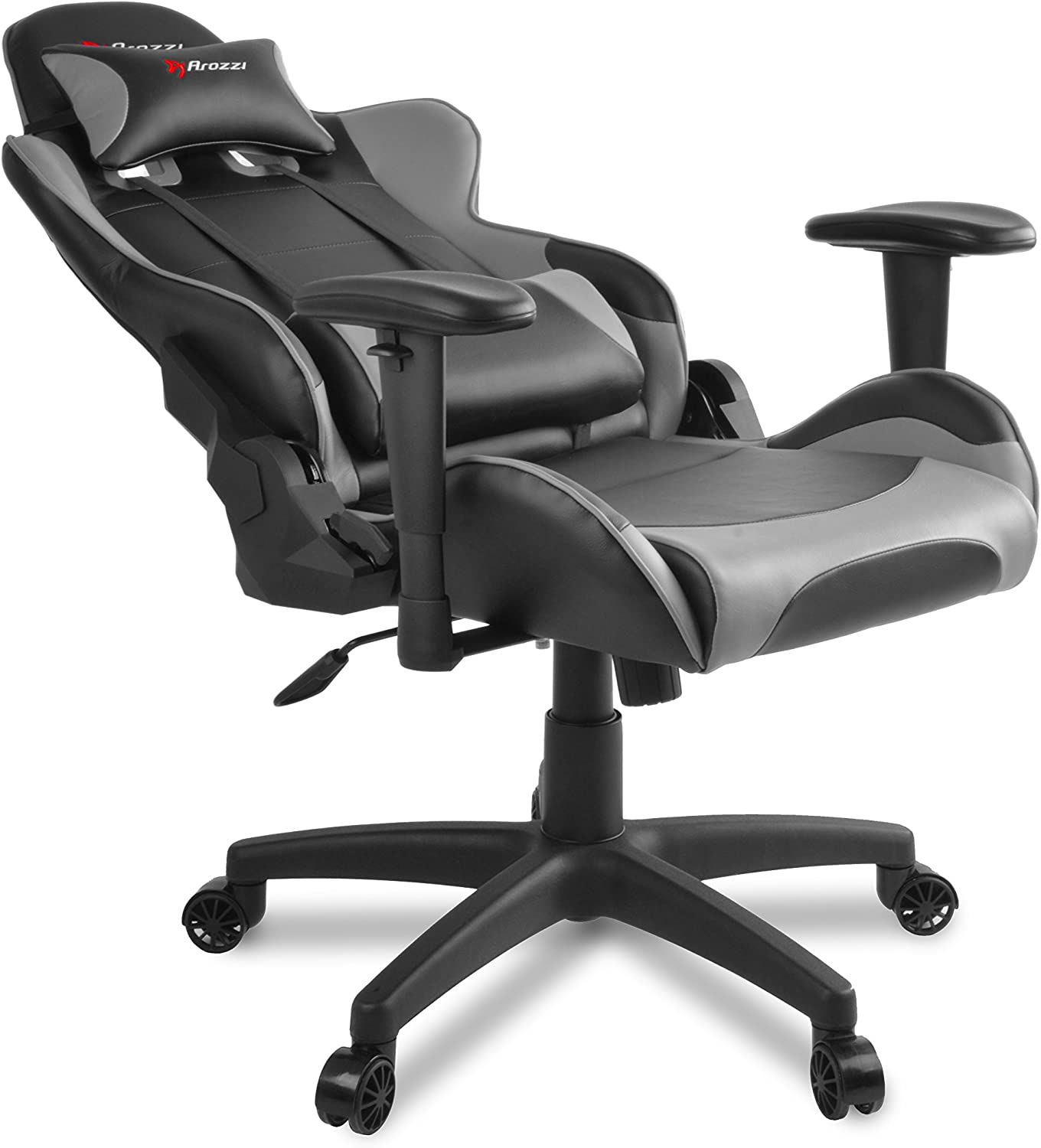 Lumbar and Headrest Pillows Included AROZZI VERONA-V2-BL Advanced Racing Style Gaming Chair with High Backrest Recliner Rocker and Seat Height Adjustment Tilt Swivel Blue