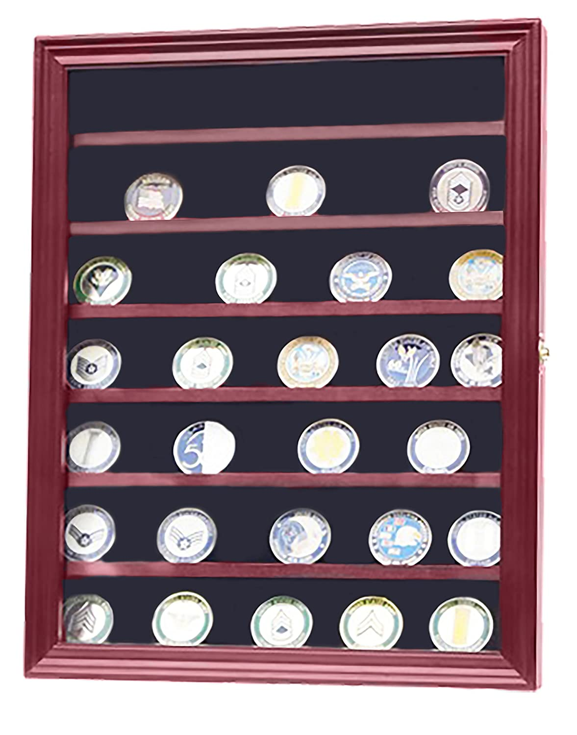 Amazon.com: DECOMIL - Military Challenge Coin Display Case Cabinet ...