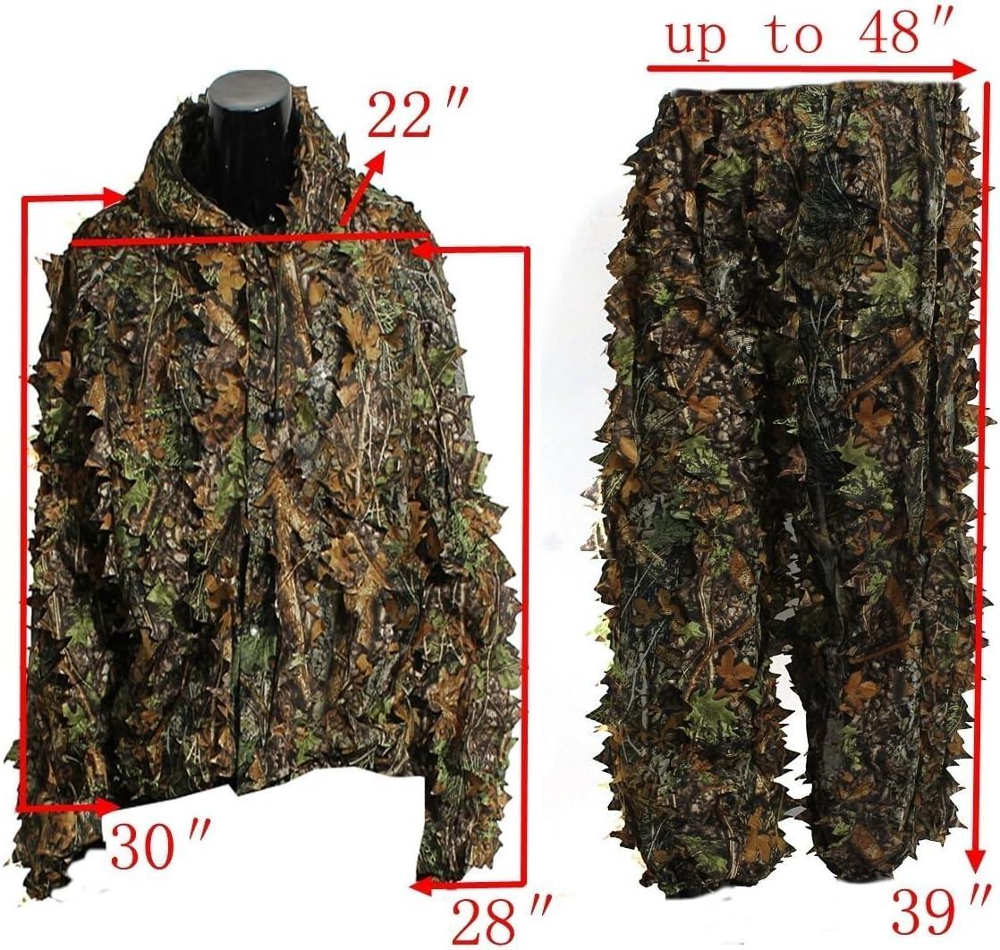 5076. Generic LQ. LQ Land CA Woodland Camo//camouflage Ults GH Ghillie Suit Ouf de chasse Cerf Huntin 3d Feuille adultes Alking en traque furtive en NV /_ 1001005076-cnuk22//_ 1796 LQ. film 1.