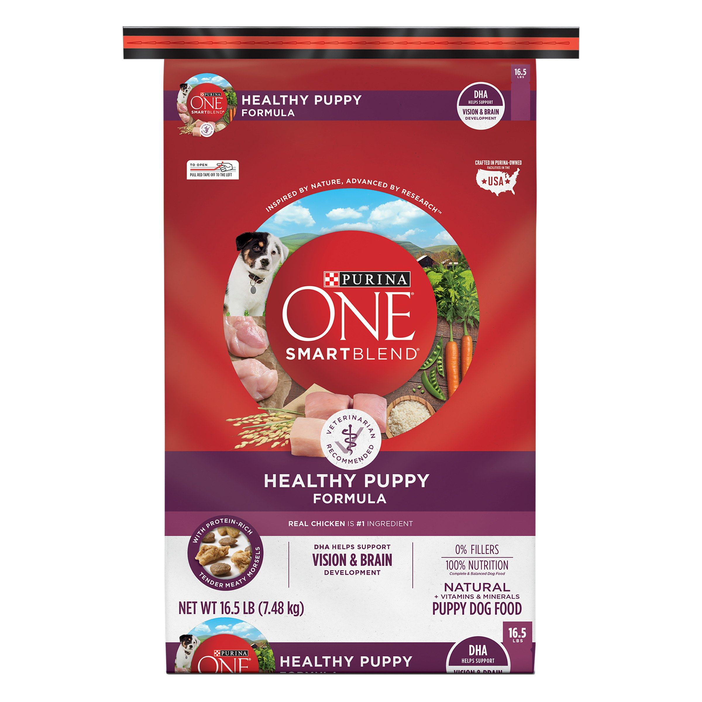 Purina ONE Natural Dry Puppy Food, SmartBlend Healthy Puppy Formula - 16.5 lb. Bag by Purina ONE