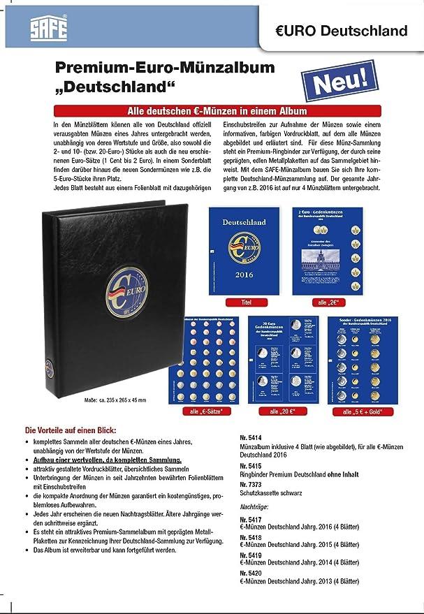 Safe 7344 Premium Münzalbum Vordruckalbum 20 Euro Gedenkmünzen